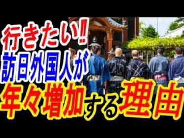 【海外の反応】最高だ!日本へ行きたい!年々日本への外国人旅行者が増える理由とは?【ゆっくり動画】