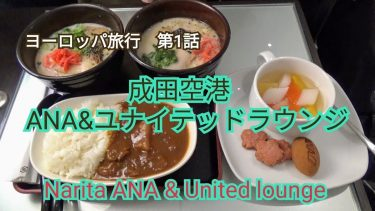 ヨーロッパ旅行 第1話 成田空港ANA&ユナイテッドラウンジ Narita ANA & United lounge