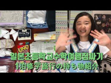 [SUE TV]小学校6年生の修学旅行の持ち物紹介。おしゃれできないのが残念です。昔も日光を行きましたか?