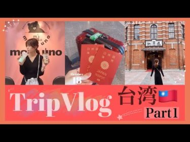 【Vlog】台湾3泊4日旅行♡DAY1!久々の海外旅行!ルームツアー!【夫婦旅】